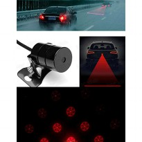 Car Universal Aluminium Rear Laser Fog Light Taillight - Model Bola - Black