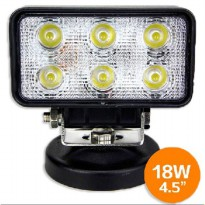 Lampu LED Headlight Mobil Offroad 18W 1260 Lumens - C18-ES - Black