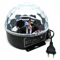 Crystal Magic Ball Sound Activated LED Disco Lamp with DMX512 - Multi-Color