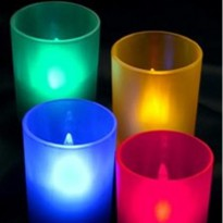 LED Tealight with Holder - AA-CD11,LXL282S - Multi-Color
