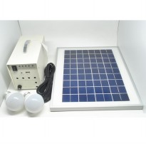 Solar Panel Monocrystalline 10W / 18V with DC Connector - White