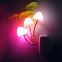 V-tie Romantic LED Mushroom Dream Night Light Bed Lamp - White