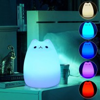 Lampu 7 Warna Model Kucing Lucu - White
