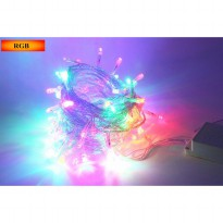 Lampu String 100 LED 220V 10 Meters EU Plug - Multi-Color