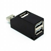Unitek Mini Super Speed USB 2.0 Hub 3 Ports - Y-2153 - Black