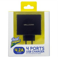 TC Charger / Batok Adaptor USB 4 Output - 2 Ampere / WellComm