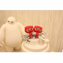 Armored BayMax Big Hero Style Earphone Cable Organizer - Red