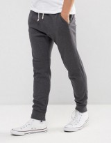 Abercrombie & Fitch Cuffed Joggers Core Slim Fit in Dark Gray