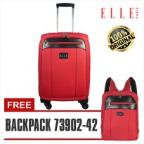 Elle Koper 72063 - 20 inch - FREE Backpack unisex / Tas Ransel 14 inch Red