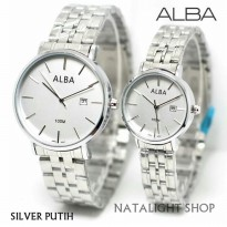 JAM TANGAN COUPLE ALBA COUPLE CLASSIC NEVADA ELEGAN MEWAH