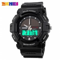 Jual Jam Tangan Digital Oakley SKMEI Solar Power Full Hitam Original - Hitam