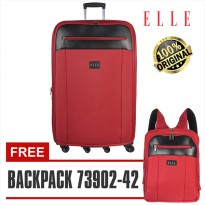 Elle Koper 72063 - 29 inch - FREE Backpack unisex / Tas Ransel 14 inch Red