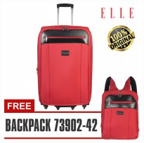 Elle Koper 72063-25 inch - FREE Backpack unisex / Tas Ransel 14 inch Red