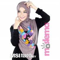 Moslema Shawl Beautyfly Fiery - Grey