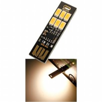Lampu LED Mini USB 1W 50LM 3000K Warm White - Black