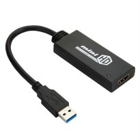 USB 3.0 to HDMI Video Cable Adapter Converter for PC / Laptop / HDTV - Black