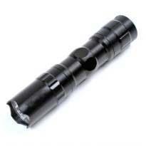 Police Senter LED Flashlight 3W Waterproof - Black