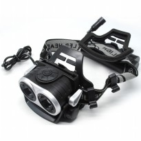 AloneFire HP20 Headlamp Senter LED 2X CREE XM-L T6 8000 Lumens - Black