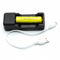 Charger Baterai Universal 18650 26650 16340 14500 - Black