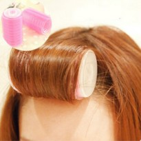Bangs Hair Curlers Plastic Tube 2 Pcs / Alat Keriting Poni - Pink