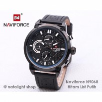 Jam Tangan Pria Naviforce N9068 Original Kulit Chrono Sporty