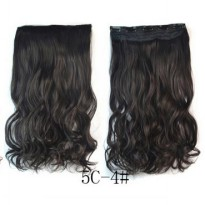 Hair Extension Clip Wig Rambut Palsu - 4A - Black