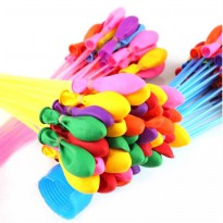 Balon Air Tiup Anti Bocor Magic Waters Ballons - 111PCS - Multi-Color