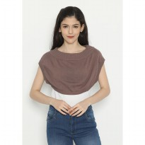 Mobile Power Ladies Rompi Cropped Knitting- Brown D20047