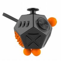 Mainan Pelepas Stress Hexagon Fidget Cube - Black