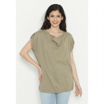Mobile Power Ladies Batwing Knitting - Brown D20255A