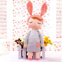 Plush Toy Boneka Angela Bunny - Gray