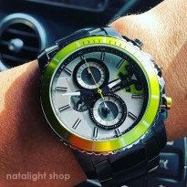 Jam Tangan Pria Alexandre Christie 6455 Original Green Forest Sporty