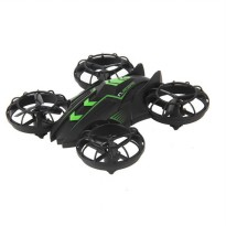 JXD 515W Quadcopter Drone Wifi dengan Kamera 0.3MP - Black/Green
