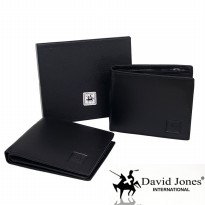 DOMPET KULIT ASLI IMPORT PRIA TIDUR | DAVID JONES INTERNATIONAL BLACK 00019