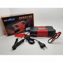 Charger aki FULL 6A SUOER DC-W1206A with display indikator