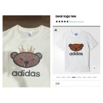 [Recommended] tshirt gildan softstyle adidas bear white