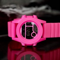 Jam Tangan Digital NIXON RUBBER DIGITAL PINK