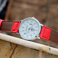 Jam Tangan Analog TIMBERLAND THO KULIT DARK BROWN RED