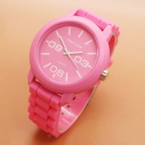 Jam Tangan Analog FORTUNER RUBBER ORIGINAL ANTI AIR PINK