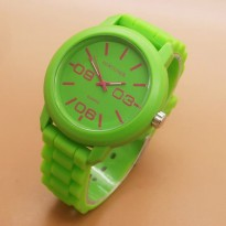 Jam Tangan Analog FORTUNER RUBBER ORIGINAL ANTI AIR GREEN