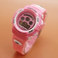 Jam Tangan Analog FORTUNER DIGITAL ORIGINAL ANTI AIR PINK