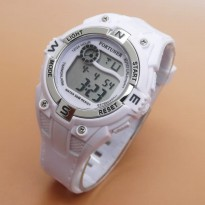 Jam Tangan Digital FORTUNER RUBBER DIGITAL ORIGINAL ANTI AIR WHITE