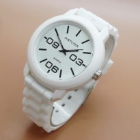 Jam Tangan Analog FORTUNER RUBBER ORIGINAL ANTI AIR WHITE