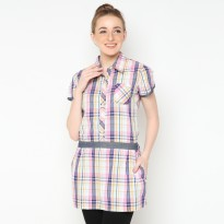 Mobile Power Ladies Short Sleeve Tunic - Multi Color T8213
