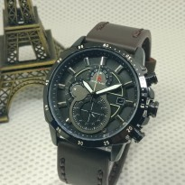 Jam Tangan Analog JAM TANGAN PRIA RIPCURL KULIT CHRONO ACTIVE DARK BROWN