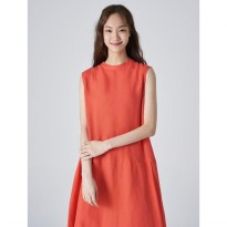 8seconds Solid Sleeveless Long Dress - Coral