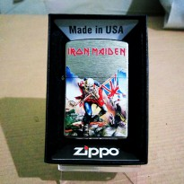 Zippo iron Maiden brushed chrome keren dan limited