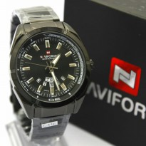 Jam Tangan Analog Jam Tangan Pria Naviforce Original 9033 Rantai Full Black