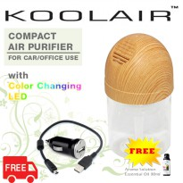 [Koolair] USB Compact Air Purifier- for Car/Laptop-FREE 60ml Aroma Solution