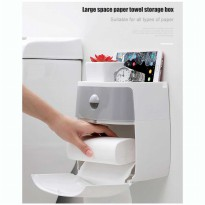 Dispenser Tisu/Kotak Tisu Tissue Storage Toilet Paper Box Dispenser - F2432